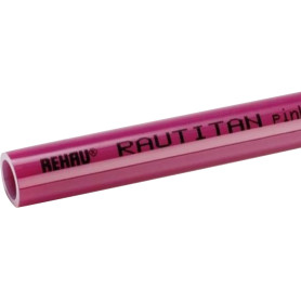 Труба Rehau Rautitan Pink для отопления и теплого пола Ø32х4.4 мм 1м, 11360721050