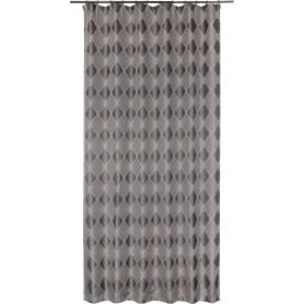 Штора на ленте «Кармен», 160х260 см, вензель, цвет серый