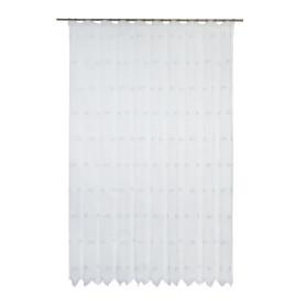 Тюль на ленте «Шанталь», 250х260 см, цветы, цвет белый