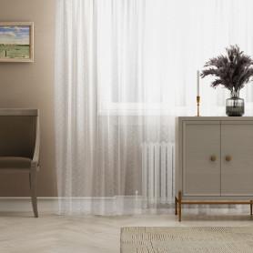 Тюль на ленте «Мильфлер», 250х260 см, цветы, цвет белый