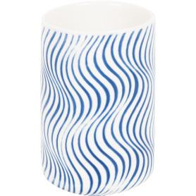 Стакан для зубныx щеток «Виток» керамика белый