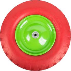 Колесо для тачки бескамерное Строймаш, размер 4.00-8, диаметр втулки 12 мм. D380 мм.