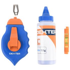Набор Dexter, шнур разметочный 30 м и порошок красящий, 113 г