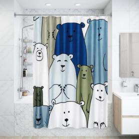 Штора для ванны Bear 180x200 см, полиэстер