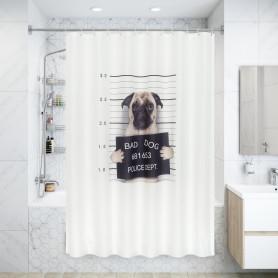 Штора для ванны Dogs 180x200 см, полиэстер, цвет бежевый