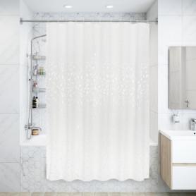 Штора для ванны Cadence SWC-90 с кольцами 180х200 см, полиэстер, цвет белый