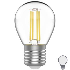 Лампа светодиодная Gauss E27 220 В 4.5 Вт шар 420 лм, белый свет