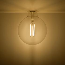 Лампа светодиодная Gauss Basic Filament E27 220 В 11.5 Вт шар декоративный прозрачный 1490 лм, тёплый белый свет