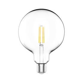 Лампа светодиодная Gauss Basic Filament E27 220 В 11.5 Вт шар декоративный прозрачный 1520 лм, нейтральный белый свет
