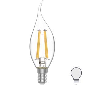 Лампа светодиодная Gauss E14 220 В 4.5 Вт свеча на ветру 420 лм, белый свет