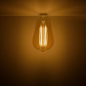 Лампа светодиодная Gauss Basic Filament ST64 Golden E27 220 В 4.5 Вт декоративная прозрачная 300 лм, тёплый белый свет