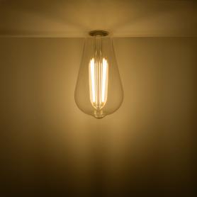 Лампа светодиодная Gauss Basic Filament ST64 E27 220 В 4.5 Вт декоративная прозрачная 470 лм, тёплый белый свет