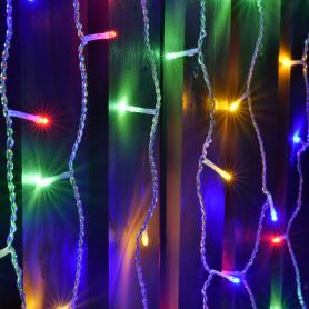 Электрогирлянда наружная «Занавес» 1x2 м 96 LED 6 нитей мультисвет