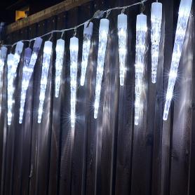 Электрогирлянда наружная нить «Сосульки» 2 м 40 LED холодный белый