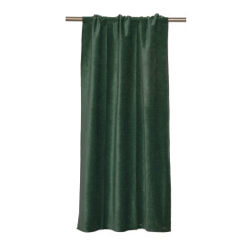 Штора на ленте Baden, 134x260 см, однотон, цвет темно-зеленый