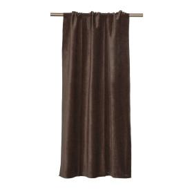 Штора на ленте Baden, 134x260 см, однотон, цвет коричневый