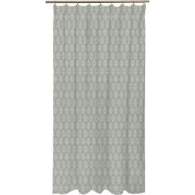 Штора на ленте Berolle, 200x280 см, геометрия, цвет светло-серый