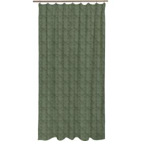 Штора на ленте Bougy, 200x280 см, узоры, цвет зелёный