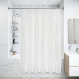 Штора для ванны Банги с кольцами 180х200 см, полиэтиленвинилацетат, цвет белый
