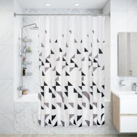 Штора для ванны Иерро с люверсами 180х200 см, полиэстер, цвет белый