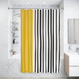 Штора для ванны Чауда с люверсами 180х200 см, полиэстер, цвет белый