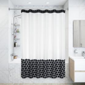 Штора для ванны Валенди с люверсами 180х200 см, полиэстер, цвет чёрный