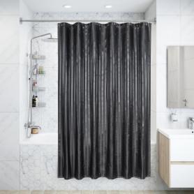 Штора для ванны Логеййя с люверсами 180х200 см, полиэстер, цвет серый