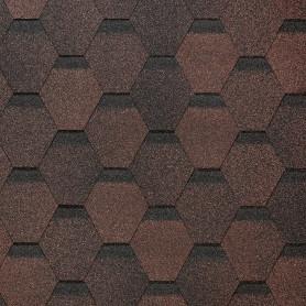 Черепица гибкая Docke Евразия коричневый 3 м²