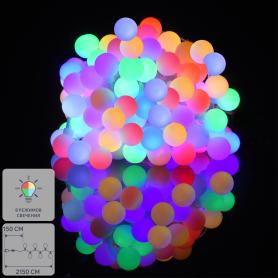 Электрогирлянда комнатная «Нить» 20 м 200 LED мультисвет