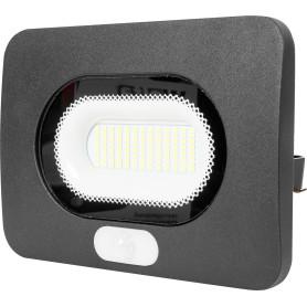 Прожектор светодиодный уличный SMD 50 Вт 5500К IP65 с датчиком движения