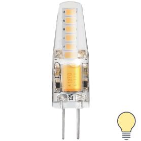 Лампа светодиодная Gauss Basic G4 12 В 2 Вт карандаш 180 лм, тёплый белый свет