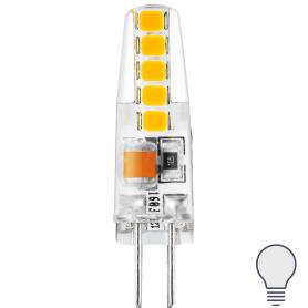 Лампа светодиодная Gauss Basic G4 220-240 В 2 Вт карандаш 190 лм, нейтральный белый свет