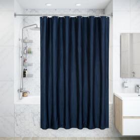 Штора для ванны «Oрганза» 180x200 см, полиэстер, цвет тёмно-синий