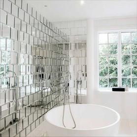 Плитка зеркальная Sensea квадратная 10x10 см 16 шт.