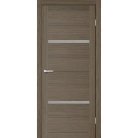 Дверь межкомнатная остеклённая Бэлла 90x200 см, ламинация, цвет мокко, с фурнитурой