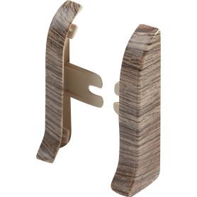 Заглушка для плинтуса левая и правая Artens «Кремано» 65 мм, 2 шт.