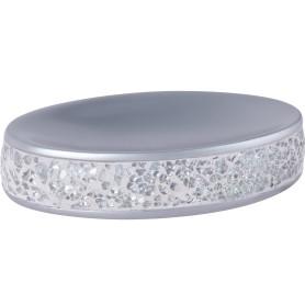 Мыльница «Snow» полирезина цвет серебро