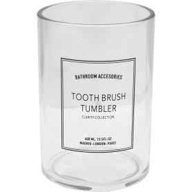 Стакан для зубных щёток Clarity акрил цвет прозрачный