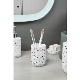 Стакан для зубныx щеток Splash керамика белый/чёрный