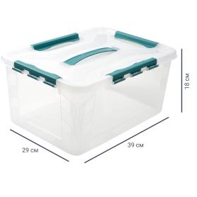 Ящик для хранения Grand Box, 15.3 л, 29x18x39 см, пластик, цвет прозрачный