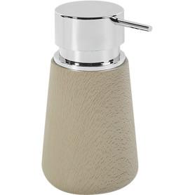 Дозатор для жидкого мыла настольный Legno пластиковый цвет серо-коричневый
