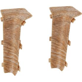 Угол для плинтуса внутренний «Дуб милан», высота 80 мм, 2 шт.