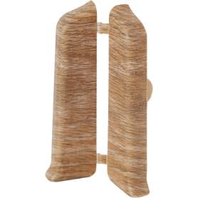 Заглушка для плинтуса левая и правая «Дуб милан», высота 80 мм