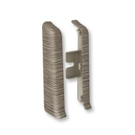 Заглушка для плинтуса левая и правая «Дуб галион», высота 80 мм