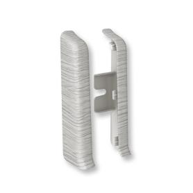 Заглушка для плинтуса левая и правая «Дуб xадсон», высота 80 мм