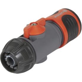 Коннектор для шланга быстросъёмный регулируемый Gardena 1/2 дюйма.