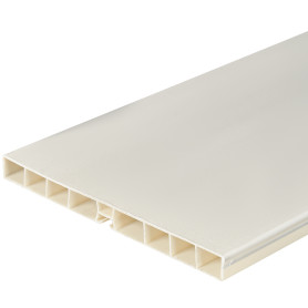 Цоколь для кухни 240x10 см, ПВХ, цвет белый
