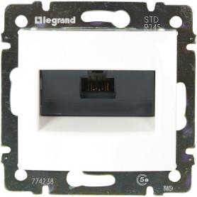 Розетка компьютерная встраиваемая Legrand Valena RJ45, UTP cat 5, цвет белый