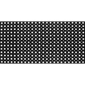 Коврик Flavio 50x100 см, резина, цвет чёрный