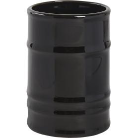 Стакан для зубных щёток «Oil» керамика цвет чёрный